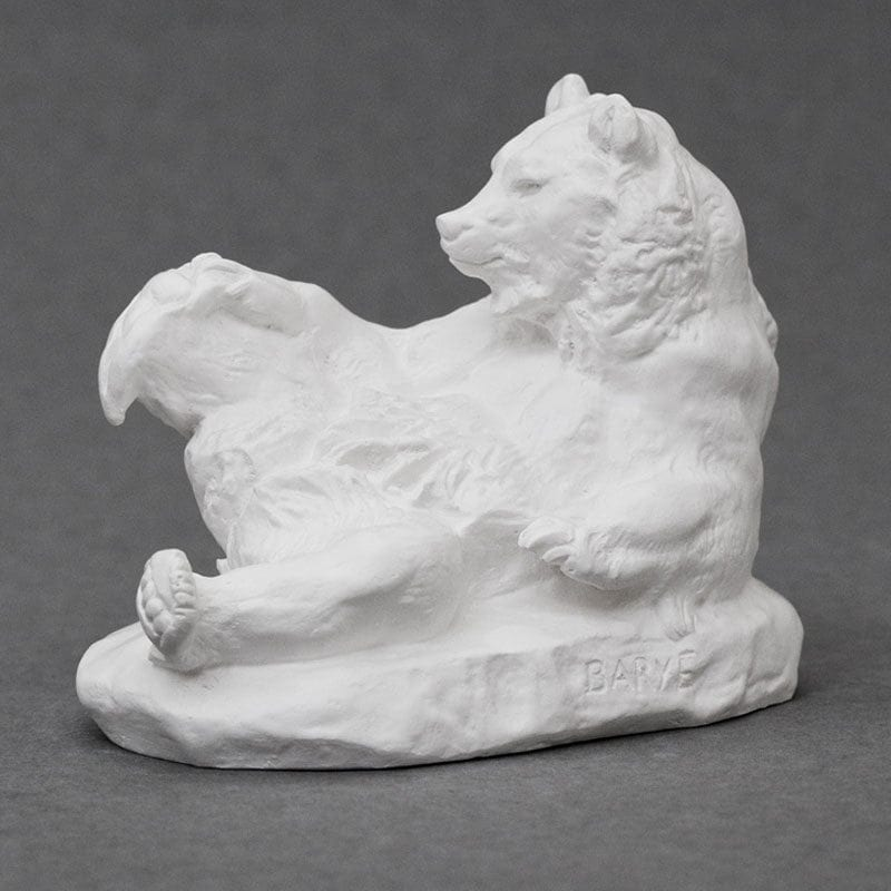 Bear Barye plaster cast
