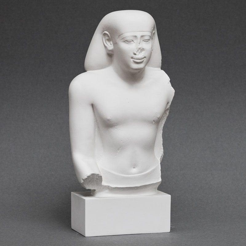 Head and upper torso of man plaster cast