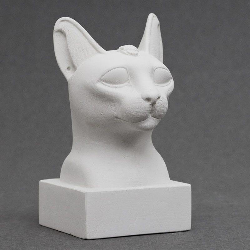 Cat Head Egyptian plaster cast