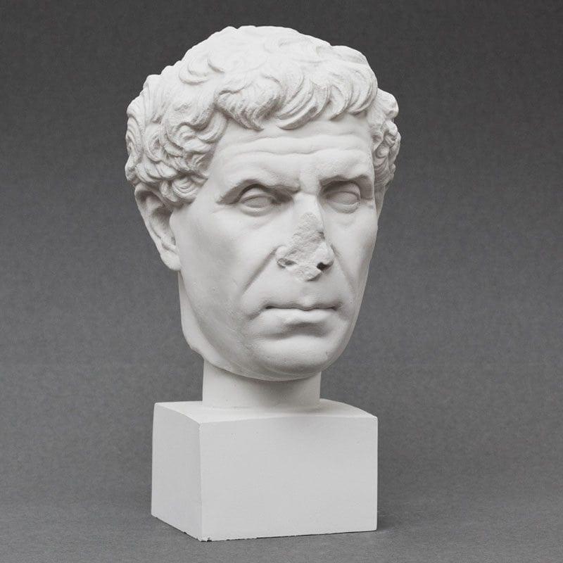 Roman Poet plaster cast