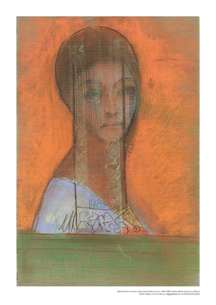 Odilon Redon Poster. Femme Voilee
