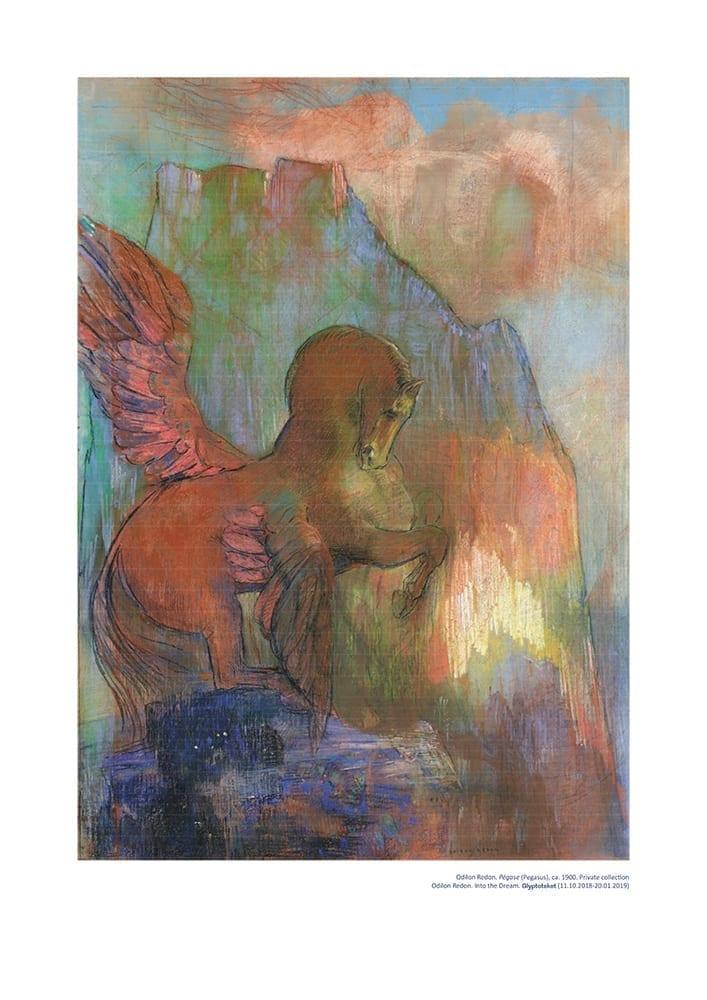 Odilon Redon Poster. Pegase