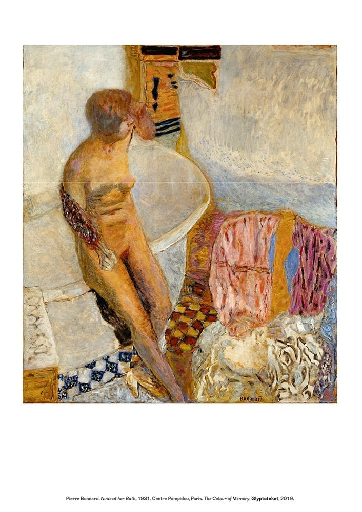 Pierre Bonnard Print. Nude at Her Bath