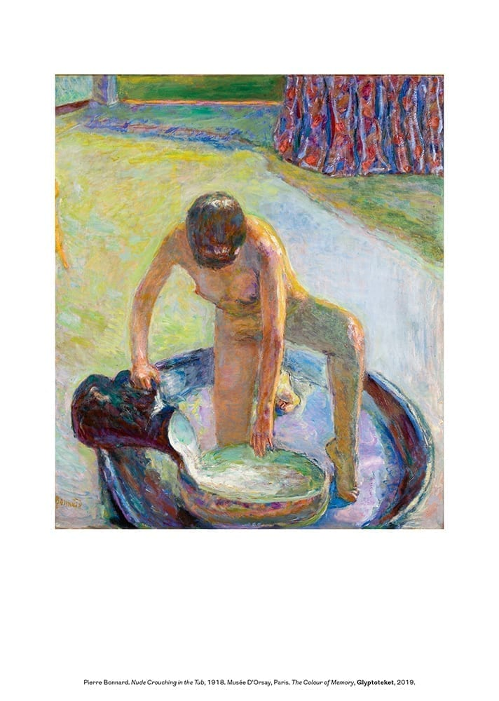 Pierre Bonnard Print. Nude Crouching in the Tub