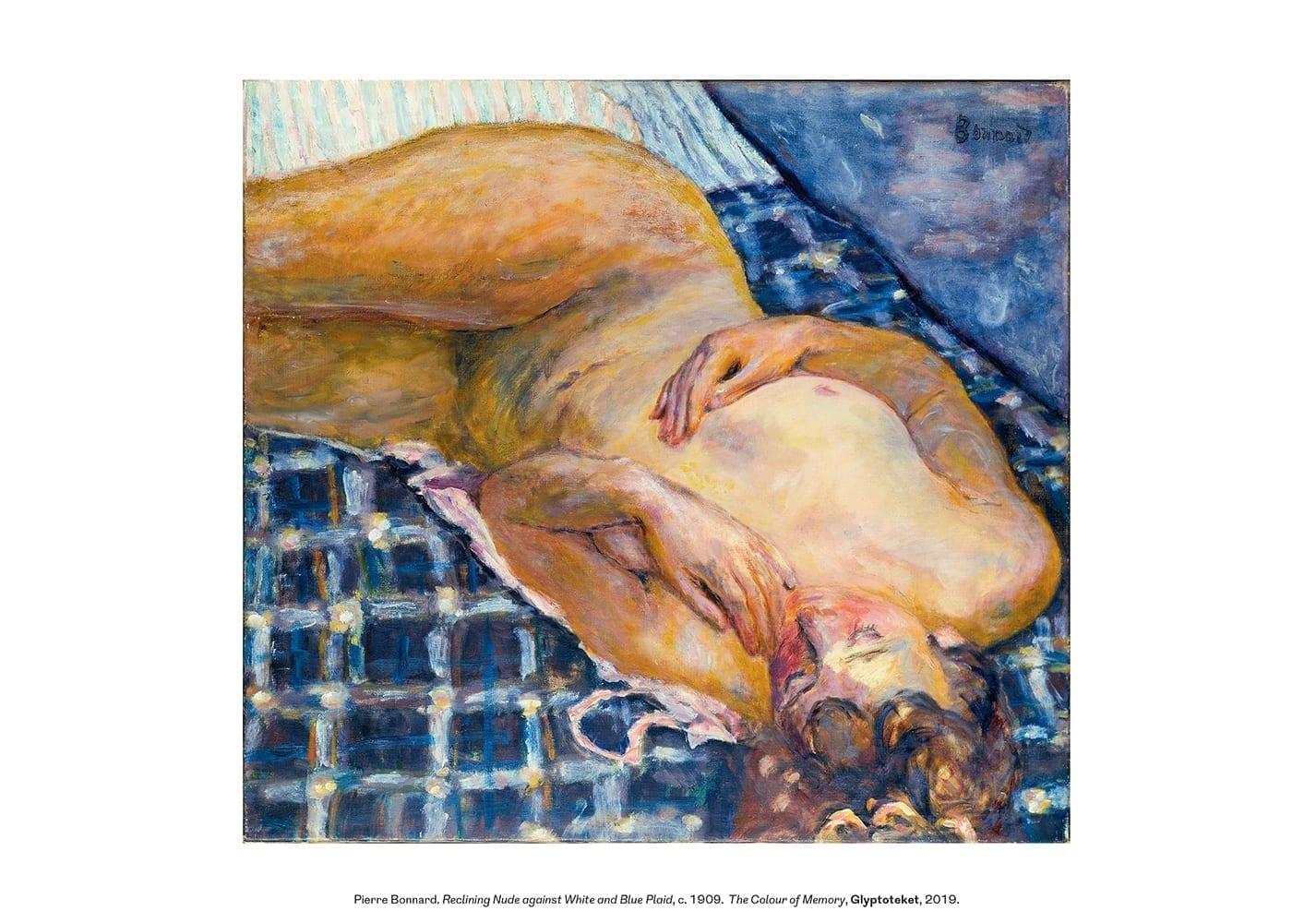 Pierre Bonnard Print. Reclining Nude