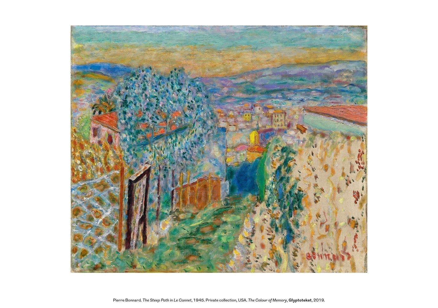 The Steep Path in Le Cannet. Pierre Bonnard Print