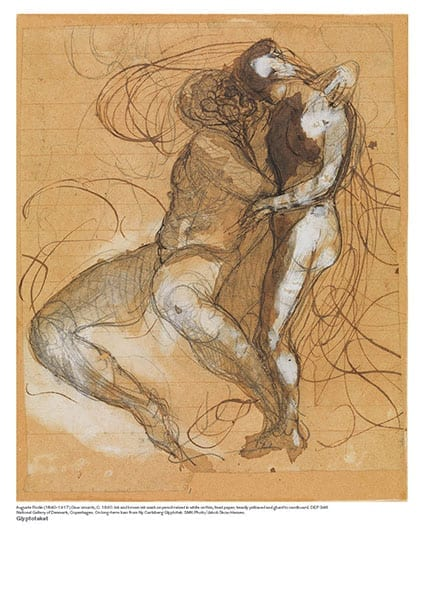 Auguste Rodin plakat. Deux Amants