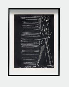 Tal R Adidas Boy Woodcut print Glyptoteket