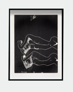 Tal R woodcut print Emma Glyptoteket