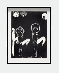 Tal R woodcut print Rose Glyptoteket