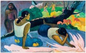 Gauguin plakat den onde ånds morskab