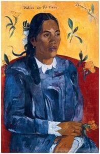 Gauguin plakat kvinden med blomsten Glyptoteket