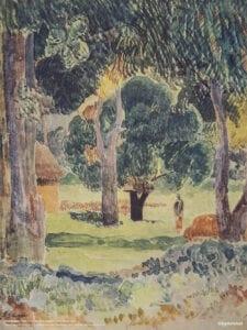 Gauguin Noa Noa print Landskab