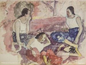 Paul Gauguin print Noa Noa tre kvinder