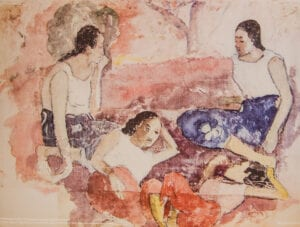Gauguin print tre kvinder Glyptoteket